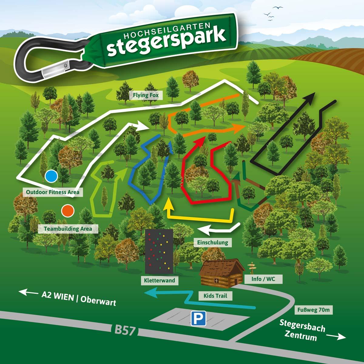 Übersichtskarte stegerspark in Stegersbach